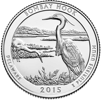 2015 D Bombay Hook USA National Parks Quarter Brilliant Uncirculated (MS-63)