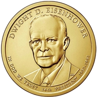 2015-P USA Presidential Dollar - Dwight Eisenhower Brilliant Uncirculated (MS-63)