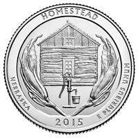 2015 P Homestead USA National Parks Quarter Brilliant Uncirculated (MS-63)