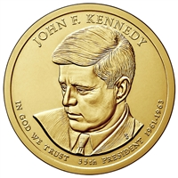 2015-P USA Presidential Dollar - John F. Kennedy Brilliant Uncirculated (MS-63)