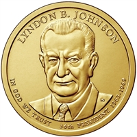 2015-P USA Presidential Dollar - Lyndon B. Johnson Brilliant Uncirculated (MS-63)