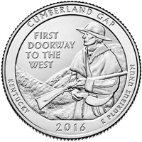 2016 D Cumberland Gap USA National Parks Quarter Brilliant Uncirculated (MS-63)