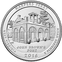 2016 P Harper's Ferry USA National Parks Quarter Brilliant Uncirculated (MS-63)