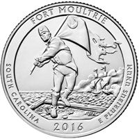 2016 P Fort Moultrie USA National Parks Quarter Brilliant Uncirculated (MS-63)