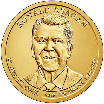2016-D USA Presidential Dollar - Ronald Reagan D Single