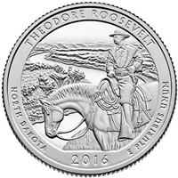 2016 D Theodore Roosevelt USA National Parks Quarter Brilliant Uncirculated (MS-63)
