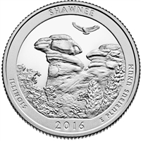 2016 P Shawnee USA National Parks Quarter Brilliant Uncirculated (MS-63)