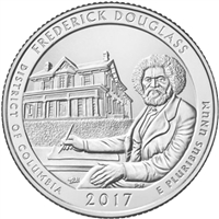 2017 D Fredrick Douglass USA National Parks Quarter Brilliant Uncirculated (MS-63)