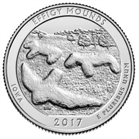 2017 P Effigy Mounds USA National Parks Quarter Brilliant Uncirculated (MS-63)