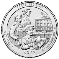 2017 P Ellis Island USA National Parks Quarter Brilliant Uncirculated (MS-63)