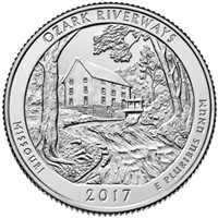 2017 P Ozark USA National Parks Quarter Brilliant Uncirculated (MS-63)