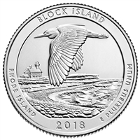 2018 Block Island D USA National Parks Quarter Brilliant Uncirculated (MS-63)