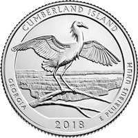 2018 P Cumberland Island USA National Parks Quarter Brilliant Uncirculated (MS-63)