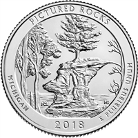 2018 P Pictured Rocks USA National Parks Quarter Brilliant Uncirculated (MS-63)