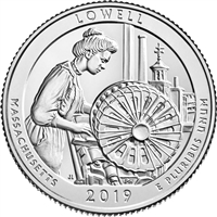 2019 P Lowell (Massachusetts) USA National Parks Quarter BU (MS-63)