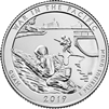 2019 D War in the Pacific USA National Parks Quarter Brilliant Uncirculated (MS-63)