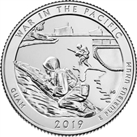 2019 P War in the Pacific (Guam) USA National Parks Quarter BU (MS-63)