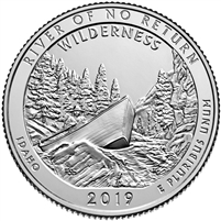 2019 P River Of No Return (Idaho) USA National Parks Quarter BU (MS-63)