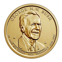 2020-P USA Presidential Dollar - George H.W Bush Brilliant Uncirculated (MS-63)