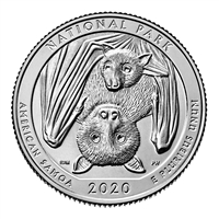 2020 D American Samoa USA National Parks Quarter BU (MS-63)