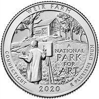 2020 D Weir Farm USA National Parks Quarter Brilliant Uncirculated (MS-63)