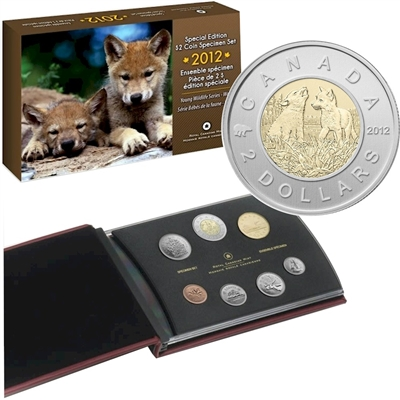 2012 Canada Wolf Cubs Special Edition Specimen Set