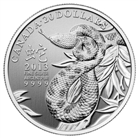 SPECIAL! 2013 Canada $20 Year of the Snake for only $20 (TAX Exempt) SPECIAL!