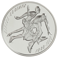 1998 Canada 50-cent First Figure Skating Championships Sterling Silver (Impaired)