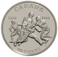 1999 Canada 50-cent 1st Grey Cup in Canadian Football Sterling Silver (Impaired)