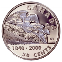 2000 Canada 50-cent First Steeplechase Race BNA Sterling Silver (Impaired)