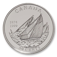 1999 Canada 50-cent First Yacht Race Between Canada & the US in 1874 (Impaired)