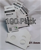 100 x (4 boxes) Self-Adhesive Cardboard 2x2 Holders - 50ct/Loon 27.5mm