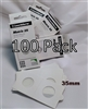 100 x Self-Adhesive Cardboard 2x2 Holders - 35mm.