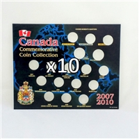 10 x Empty 2007-2010 Canada Olympic Board (25ct & Dollars) Square