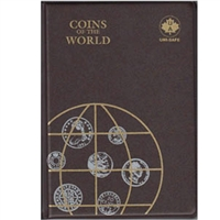 Coins of the World Brown Vinyl Album with 142 pockets