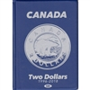 Uni-Safe 1996-2018 Canada Two Dollar Blue Coin Folders with 4 pages