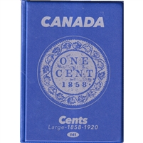Uni-Safe Canada Large Cent Blue Coin Folders (contains 4 pages)