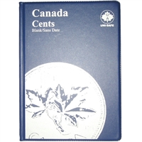 Uni-Safe Canada Small Cent Blue Coin Folders with 4 pages
