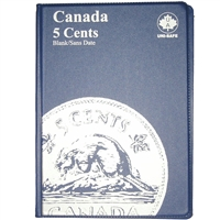 Uni-Safe Canada 5 Cents Blue Coin folders (contains 4 Pages)