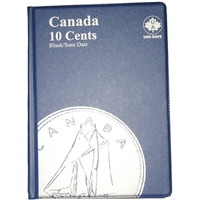 Uni-Safe Canada 10 Cents Blue Coin folder, including 4 Pages