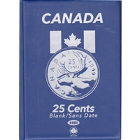 Uni-Safe Canada 25 Cents Blue Coin Folder (contains 4 pages)