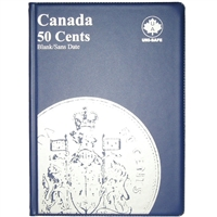 Uni-Safe Canada 50 Cents Blue Coin Folder (contains 4 pages)