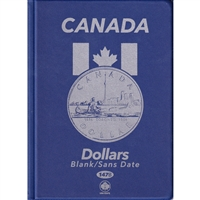 Uni-Safe Canada Silver Dollar Blue coin folders with 4 pages