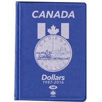 Uni-Safe Canada Loon Dollar Blue Coin Folders (Contains 4 pages)
