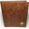 Blank Replacement Book (no pages) Unimaster Brown Vinyl Coin Binder.
