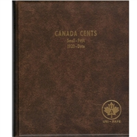 Small Cents Canada 1-cent 1920-Date Unimaster Brown Vinyl Coin Binders