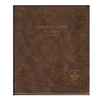 Five Cents Canada 1858-1921 Unimaster Brown Vinyl Coin Binders