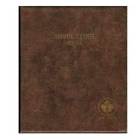 Five Cents Canada 1922-Date Unimaster Brown Vinyl Coin Binders