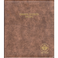 Ten Cents Canada 1858-2013 Unimaster Brown Vinyl Coin Binders