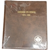 Twenty-Five Cents 1870-1999 Unimaster Brown Vinyl Coin Binders